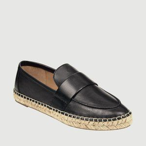 Marc Fisher LTD Espadrilles Black Leather Size 6
